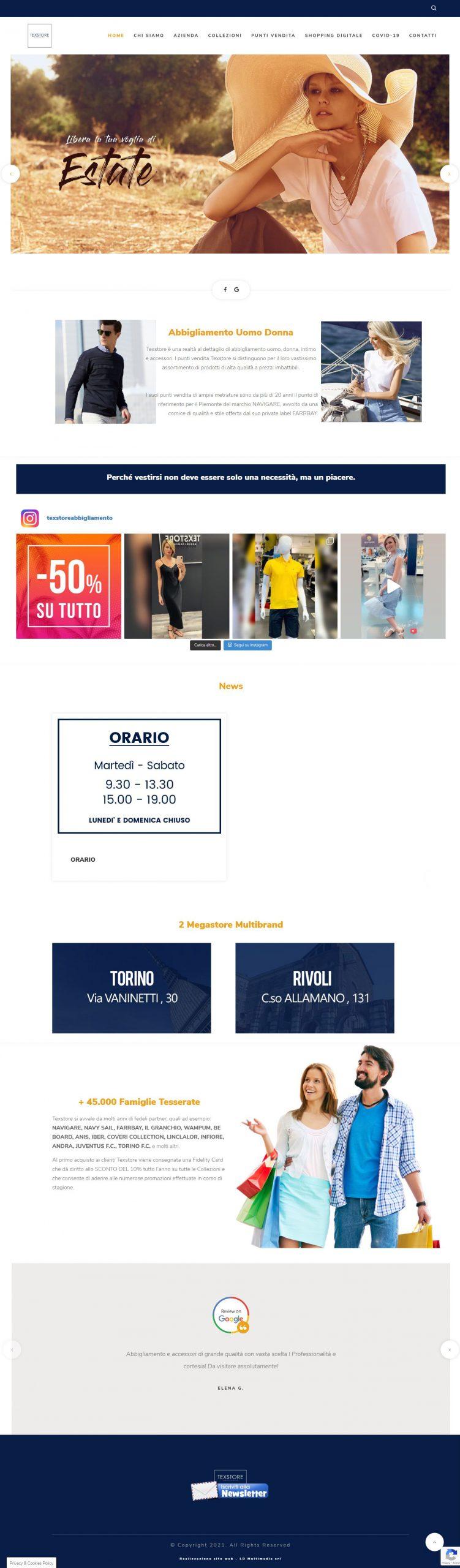 Texstore Homepage