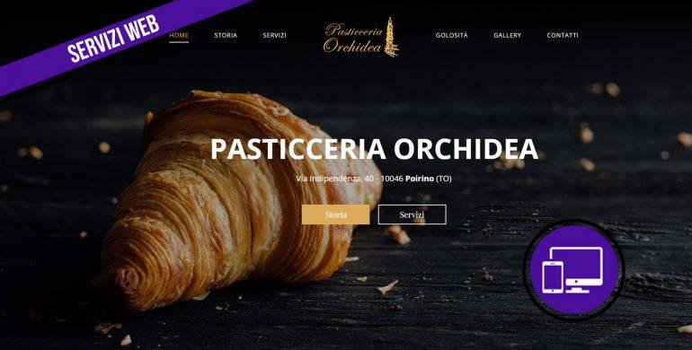 Realizzazione sito web Pasticceria Orchidea